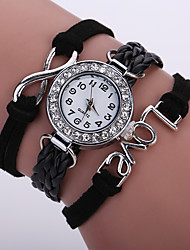 Women's Fashion Watch New Design Charm Multilayer Cuff Bracelet Wristwatch Leather Band Designed LOVE 8 kids watches