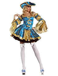 Cosplay Costumes / Party Costume Pirate Festival/Holiday Halloween Costumes Blue PrintDress / More Accessories / Headwear /