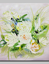 Hand Painted Flowers Oil Painting On Canvas Wall Art Picture For Home Decoration With Stretched Frame Ready To Hang