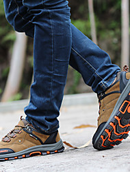 Fall Comfort Customized Materials Outdoor / Athletic Flat Heel Lace-up Blue / Khaki Walking / Hiking