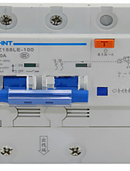 disjuntores de fuga dz158le 2p / 100a portões totais genuína de proteção de curto-circuito