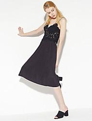 c + beeindrucken Frauen solid black skirtssophisticated midi