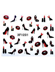 сексуальные губы наклейки помады пятки ногтей