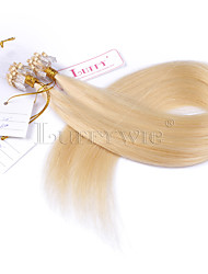 10A Grade #613 Blonde Micro Loop Ring Beads Hair extensions Silky Straight 100grams Brazilian Virgin Human Hair Braids