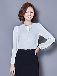 Women's Round Collar Bottoming Shirt Long Sleeve  Blouses