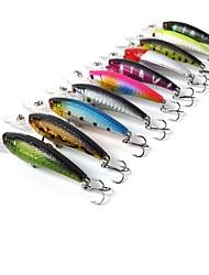 """10 pcs Angelköder kleiner Fisch Verschiedene Farben 8.0g g/5/16 Unze mm/3-1/2"""" Zoll,KunststoffSeefischerei / Köderwerfen / Eisfischen /"""