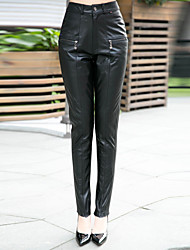 stylish Lady Leather Pants Elegent Women's Leather Pants 5517