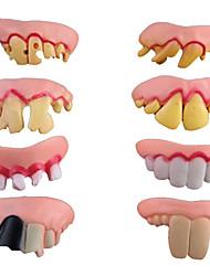 vendas quentes de 8 peças divertidas pateta falsos dentes de vampiro do dia das bruxas adereços decorativos brinquedos mágicos