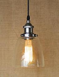 40 Lampe suspendue ,  Retro Rustique Plaqué Fonctionnalité for LED MétalSalle de séjour Chambre à coucher Salle à manger Salle de bain