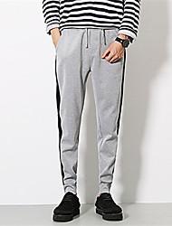 Pantalon de Sport Pour des hommes Couleur Pleine Sport Polyester Noir / Gris