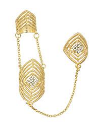 Anéis Fashion Pesta / Diário Jóias Liga Feminino Anéis Meio Dedo 1pç,8 Dourado