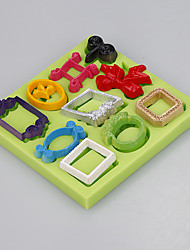 Different shape mirror frames for fondant cake chocolate silicone mold bake ware food grade silicone