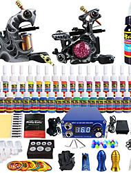 Solong kit de tatouage de tatouage complète 2 40 encres d'alimentation des Poignées aiguille de pro machines
