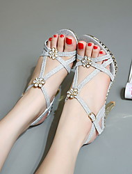 Women's Heels Summer Basic Pump PU Casual Stiletto Heel Others Silver Gold Walking