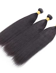3 Pièces Yaki Tissages de cheveux humains Cheveux Brésiliens 100grams 8inch to 30inch Extensions de cheveux humains