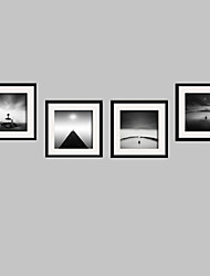Landscape / Still Life / People Framed Canvas / Framed Set Wall Art,PVC Black Mat Included With Frame Wall Art