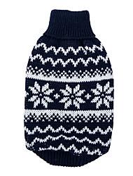 Hunde Pullover Rot / Dunkelblau Hundekleidung Winter / Frühling/Herbst Weihnachten / Schneeflocke warm halten Other