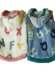 Dog Hoodie / Pajamas Blue / Pink Dog Clothes Summer / Spring/Fall Letter & Number Cute / Casual/Daily