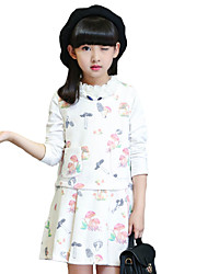 Girl's Casual/Daily Solid DressOthers Spring / Fall Pink / White