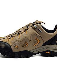 Для мужчин Спортивная обувь Замша Весна Осень Для пешеходного туризма На плоской подошве Серый Коричневый Менее 2,5 см