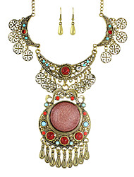 Imitation Gemstone Statement Jewelry Sets