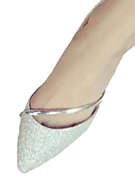 Women's Flats Fall Comfort PU Casual Flat Heel Others Silver / Gold Others