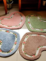 Grade Carpet Doormat Lovely Bedroom Pastoral Love Shape Super-Soft Toilet Mat (45 * 50)