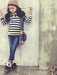Girl's Going out Striped Tee / BlouseCotton Spring / Fall Blue