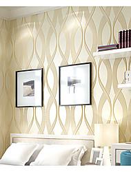 Damasco / Riscas / Art Deco / 3D Papel de Parede Para Casa Contemporâneo Revestimento de paredes , Tecido Não-Tecelado Materialadesivo
