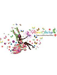 Romance / Floral / Personnes Stickers muraux Stickers avion Stickers muraux décoratifs,PVC Matériel Lavable / Amovible / Repositionable
