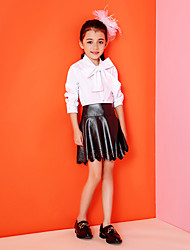 Girl's Casual/Daily Solid SkirtPU Summer / Spring / Fall Black