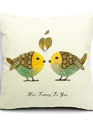 1PC Household Articles Back Cushion Novelty Originality Fashionable Floral Birdie Pillow Case