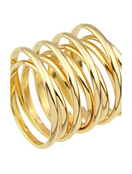 Gold Silver Plated Metal Big Finger Rings
