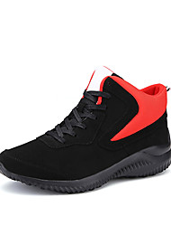 Men's Athletic Shoes Spring / Fall Flats PU Athletic Flat Heel Lace-up Blue / Black and Red / Black and White Basketball