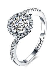 lureme18kRPG Cubic Zirconia Annulus Wedding Engagement Ring