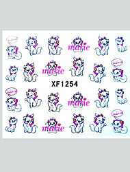 Cute Kitty Water Transfer Decals Nail Stickers