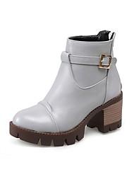 Feminino-Saltos-Saltos / Plataforma / Coturno / Botas de Cowboy / Botas de Neve / Botas Cano Curto / Arrendondado / Botas Montaria /