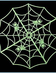 3pcs haute qualité de halloween spider web barre de la maison lumineuse autocollant décoration