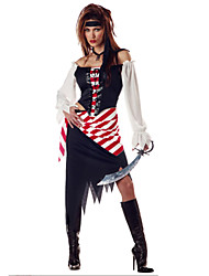 Costumes Movie & TV Theme Costumes Halloween White Patchwork Terylene Dress / More Accessories