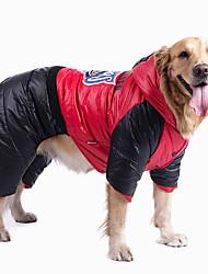 Dog Clothes  Winter  Block Geometic Keep Warm Fashion Halloween Christmas
