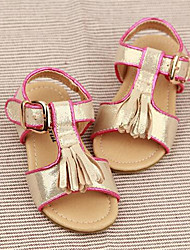 Women's Sandals Summer Sandals / Round Toe PVC Casual Flat Heel Others Silver / Gold Others