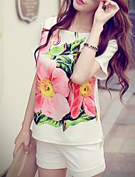 Pink Doll®Women's Round Neck Casual/Print Short Sleeve Regular T-shirt