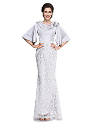 2017 Lanting Bride® Trumpet / Mermaid Mother of the Bride Dress - Elegant Ankle-length Half Sleeve Lace / Satin Chiffon