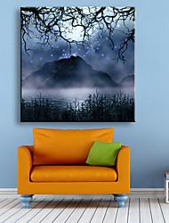 E-HOME® Stretched LED Canvas Print Art Landscape Scenery  LED Flashing Optical Fiber Print One Pcs