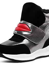 Women's Sneakers Fall / Winter Wedges / Creepers Leatherette Outdoor / Athletic / Casual Wedge Heel Magic Tape Black