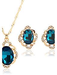 Bijoux Colliers décoratifs Boucles d'oreille Set Set de Bijoux Collier / Boucles d'oreilles Nuptiales Parures Ajustable Mode Vintage