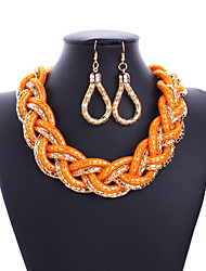 Ensemble de bijoux Mode Sexy Orange Jaune Vert Rose Collier / Boucles d'oreilles Mariage Soirée Quotidien Décontracté 1setColliers
