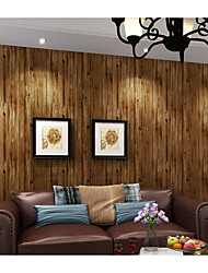 Wood Wallpaper For Home Classical Wall Covering  Non-woven fabric Material Adhesive required Wallpaper  Room