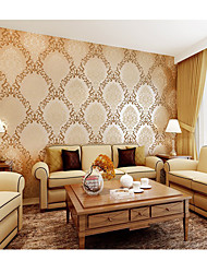 Luxury Modern 3D Embossed  Wallpapers Vintage Floral Of Wall Paper For Bedroom Tv Background Home Improvement Wallpaper