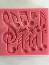 Musical Notes Fondant Silicone Mold  SM-454